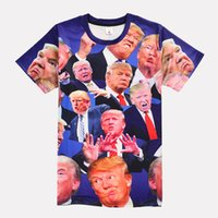 Wholesale Hi Neck Crew Shirt - Kuso T-Shirt President Trump Men Women Tee Shirt Summer Casual Sport Tees Tops Short Sleeve O-Neck Hi-Street Skate 3D Tees MDLG0423
