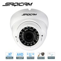 Wholesale Cctv Outdoor Dome - Saqicam HD 2MP 1080P AHD Camera CCTV Varifocal lens Outdoor Dome camera 2.8-12mm lens IR Camera for 1080N AHDH DVR
