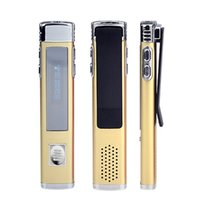 Großhandel-8GB Marke Spion Mini-Clip USB-Flash-Digital VOR Audio Voice Recorder F2 Dictaphone MP3-Player Pen Drive Grabadora Gravador golden