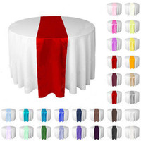 Wholesale cm x cm silk like satin table runner wedding party banquet venue table decoration