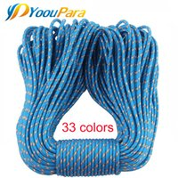 Wholesale outdoor cords - Wholesale Paracord 3mm 100FT Rope 1 Strand Paracorde cord Outdoor camping hiking Survival Emergency Equipment 24 Colors Parachute