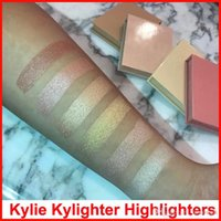 Wholesale french long - Kylighter Kylie Highlighters Kylie Cosmetics Highlighter Glow Face Makeup 6 color Bronzers & Highlighters Salted Caramel French Vanilla DHL