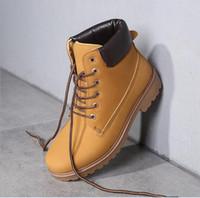 Wholesale Cheap Low Heel Boots - Plus size(36-46)2016 Women Men Fashion Martin Boots Snow Boots Outdoor Casual cheap Men boots Autumn Winter Lover shoes