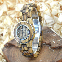 Wholesale Ladies Zebra Watches - Hot zebra wood watch with luxury wooden band ladies watches quartz watches simple lightweight and beautifu