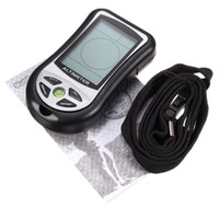 Wholesale Weather Barometers - Wholesale-New Multifunction LCD Digital Compasses Altimeter Barometer Thermometer Weather Forecast History Clock Calendar for Hiking