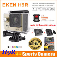 Wholesale Sports Hd Waterproof Dv Camera - Original EKEN H9 H9R 4K Action Camera + Extra Battery + Dock Charger + Remote control HDMI Wifi waterproof Sport DV 1080P 60fps 170 degree 5