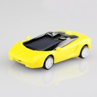 Wholesale Solar Power Mini Pc - Wholesale-1 Pcs Random Color Mini Plastic Solar Power Toy Car Solar Toy for Kids Children Educational Gadget Trick Novelty Solar Car Toy
