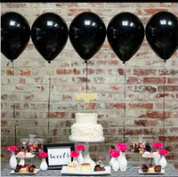 Wholesale Black Ballons - Black 100pc 10 Inch Thick 2.2 g latex Ballons Birthday Wedding Decorations Balloons Pink White Purple Globos Party supplies Wholesale