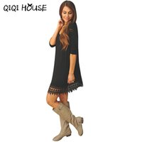 Wholesale China Wholesale Clothing Lace - Wholesale- Cheap Clothes China 2016 Autumn Winter dress Women casual dress fashion clothes china vestidos algodon casua #562