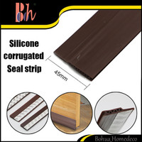 Wholesale Rubber Seal Stripping - 45mm*1000mm 1M Self-Adhesive Silicone Rubber PVC Wooden Aluminum Glass Door Bottom Side Weatherstripping Waterproof Windproof Sealing Strips