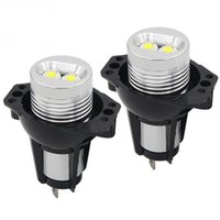 bmw halo toptan satış-6 W 12 W LED Halo Yüzük Marker Melek Gözler ışık Bridgelux Çip 6500 K XENON BMW E90 E91 325i 328i 330i 335i Araba Styling