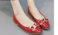 Wholesale Square Mouth Shoes - New light mouth square single shoes ms paint flat metal chain big yards FuRuiSource