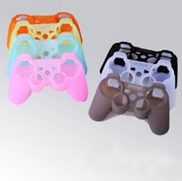 Wholesale Silicone Joystick Covers - 500 Pieces LOT Gel Rubber Colorful Silicone Case Protective Skin Cover Wrap Case for PS3 Controller Joystick DHL Free Shipping