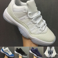 Wholesale Metallic Gold Colour - With Box 23 Colour Air retro 11 XI university blue men Women HEIRESS white Metallic Gold Gamma blue moon Bred Space jam Basketball shoes