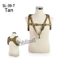 Wholesale Tactical Combat Vest Paintball - WosporT Tactical Vests One Single Point Sling Adjustable Combat Vest Outdoor Paintball Airsoft Multi function 1000D Nylon Tactical Sling CS