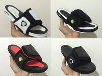 Wholesale Dot Flip Flop - Wholesale Hydro XIII Retro 14 slippers Sandy beach Black white sports men basketball shoes casual sneakers high quality shoes size 7-13
