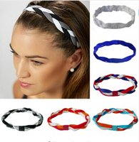 Softball Correre Sport Fascette intrecciate Nylon Sweat Slip Grip Scrunchy Donne Soccer Girl Yoga Elastic Hair Bands