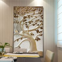 Wholesale Tree Wallpaper Decoration - custom photo wallpapers tree Art Wall Mural Home Decoration Wall Decal for porch corridor living room
