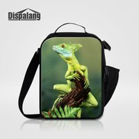 Men Small Picnic Alimentos Lunchbox Cool Animal Cabrite Snake Lizard Impresión Almuerzo Bolsa Para Niños Termalmente Aislado Cooler Bag Meal Package