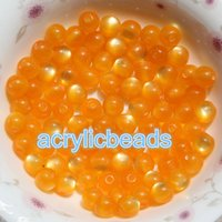 Wholesale Large Wholesale Beads - 100pcs 12MM Pearlized Cats Eye Gumball Beads Resin Round Reflective Beads Bubble Gum with 2.8mm Large Hole