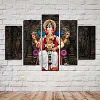 Wholesale Spray Paint Images - HD Painted Oil Painting On Canvas Large Statue Paintings Wall Decoration 5 Piece set Canvas Art Hot Photo Image Picture For Home