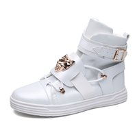 Wholesale White Resin Flowers - Autumn Winter Mens Ankle Boot 100% Luxury Genuine Cow Leather Fashion Side Zip Buckle Casual Western Boots Men Shoes Y56