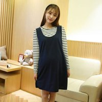Wholesale Tank Tops For Pregnant Women - T-shirt + Dress for Pregnant Women Maternity Clothes Long Sleeve Tops Tanks Dresses Cute Female Dresses Pregnancy Clothing