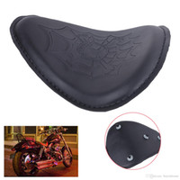 Wholesale Moto Skull - Cool Skull Motorcycle Solo Seat For Harley Honda Yamaha Chopper Bobber Custom CB Front Driver Seat Moto Bike #MB155