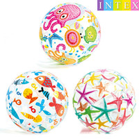 Wholesale Plastic Fishing Reels - PVC Beach Ball Toys Round Star Fish Inflatable Ball Adult Children Sand Play Water Fun Toys stars fish Beach Ball 51cm KKA1899 WD005