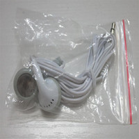 Wholesale Headphone Wholesale China - Disposable Simple White Earphones Headphone Headset for smartphone android MP3 MP4 device with opp bag made in china