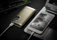 Wholesale Display Shells - A-19 New Designe Hot Sales Power Bank 10000mAh Capacity Display Aluminum Alloy Shell Intelligent One USB With LCD Light
