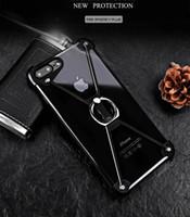 cajas del teléfono del tornillo al por mayor-Funda de teléfono con forma de X Bumper de aluminio para iPhone 5s 6 6S Plus 7 7 más Magentic Frame Screw Asegurado Cubiertas a prueba de golpes