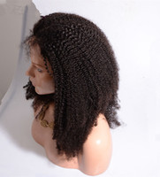 Wholesale Indian Curly Hair For Sell - Kinky Curly Front Lace Wigs For African Women Cheap Price Indian Hair Bleached Knots Lace Wigs Selling Online