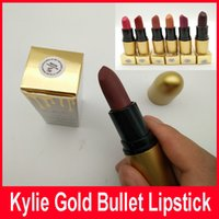 Wholesale Wholesale Stick Pack - New Kylie Gold Pack Lipstick Matte Kylie Lipstick Gold Bullet Lip Stick 12-Color Lip Gloss Beautiful Cosmetics