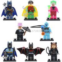 Wholesale Catwoman Action Figures - DC Super Heroes Figures 8pcs lot XINH128-135 Action Figure Batman Robin Catwoman Penguin Building Blocks Bricks Toys For Children Gifts