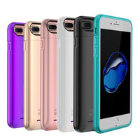 Wholesale External Charge Iphone Bank - Newest charger case for iPhone 6 6s 7 plus with built-in magnet Ultra Thin Backshell wireless charge case External Battery power bank