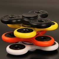 Wholesale Hand Spinner Fingertips Spiral Fingers Fidget Spinner EDC Hand Spinner Acrylic Plastic Fidgets Toys Gyro Toys With Retail Box DHL OTH001