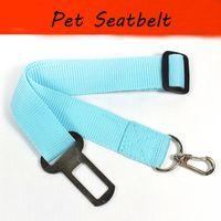 Wholesale led dog safety collar online - Adjustable Pet Cat Dog Car Safety Seat Belt Harness Vehicle Seatbelt Lead Leash for Dogs Colours width cm dog car seatbelt dog chain