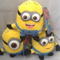 Wholesale Despicable Plush 25cm - Despicable Me 25cm small yellow man thief daddy 3D eye plush dolls plush doll gifts for children free shipping