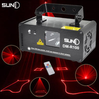 Wholesale Led Scanner Red - Wholesale-SUNY Remote 100mw RED Stage Lighting Effect DMX 512 Scanner Stage Light Laser Projector DJ Disco Party Show Lights LED Fantastic