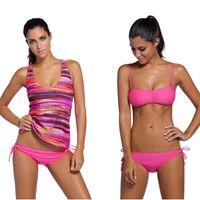 Wholesale Maternity Bikini Swimsuits - Women Swimwear Bikini with Tank Top 2017 New Maternity Pregnancy Tankini Beach Wear Bathing Suit Swimsuit 3 Pieces Suits
