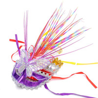 Wholesale child butterfly masquerade mask - The new luminous butterfly mask Free shipping princess mask colorful light mask masquerade masks wholesale Concerts