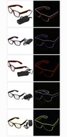 Vidros LED EL Wire Light Bright Light Óculos de festa Club Bar Performance Glow Party DJ Dance Óculos Luminous Eyewear Christmas Gift