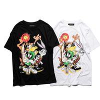 Wholesale Bugs Bunny Rabbit - 2017 Funny Bugs Bunny T-Shirt Men Women Cute Rabbit Cartoon Printed Tops Tees Casual Cotton Short Sleeve Sporting Tshirts