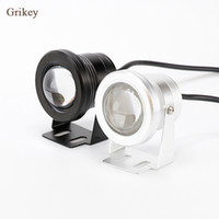 2PCS 10W LED Fog Fog Light Lamp Refletor de farol redondo para motocicleta Waterproof DRL Daytime Running Lights White
