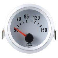 Wholesale Threaded Npt - B740 52MM Auto Car Meter Oil Temperature Gauge Sensor Thread 1 8 NPT Suitable For All 12 Volt Cars High Sensitive Meter