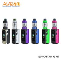 Wholesale high rate battery - iJoy Captain X3 324W Kit with 8ml Captain X3 SubOhm Tank fit Triple High Rate 20700 Battery or 18650 with Adaptor 100% Original