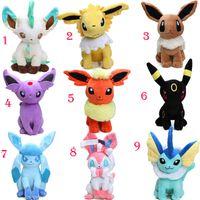 Wholesale wholesale digimon toys online - 27pcs EMS cm Eevee Jolteon Umbreon Flareon Espeon Vaporeon Stuffed Doll Pocket Pikachu Plush Toys Digimon World Plushie Toys