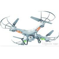 ingrosso fotocamera per elicottero a distanza telecamera a raggi x-RC Drone Helicopter X5C 0.3M Telecamera 360-Eversion 2.4G Telecomando 4 CH 6 Axis Gyro Quadcopter Led Aereo di volo leggero