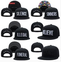 Wholesale Animal Funerals - Wholesale-2017 hot new Black Scale Snapbacks hats caps SILENCE Absence Funeral Sinners mens women classic baseball hat freeshipping !